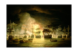 Bombardment of Algiers, August 1816, 1820 Giclee Print by Thomas Luny