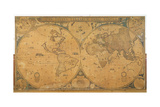 'Nova Totius Terrarum Orbis Tabula' (World Map) C.1655-58 Giclee Print by Joan Blaeu