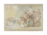 Soldiers on a March, 1805 Giclee Print by Thomas Rowlandson