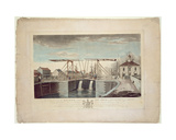 An East View of the Bridge and New Dock at Kingston Upon Hull, 1786 Giclee Print by Robert Thew