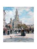 Paris, La Place De Trinite Giclee Print by Jean Francois Raffaelli