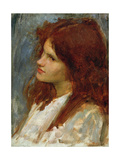 Study for 'The Mermaid' Giclee Print by John William Waterhouse