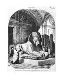The Pink Granite Sphinx in the Egyptian Rooms in the Louvre Museum, Illustration from 'Le Magasin… Giclee Print by John Quartley