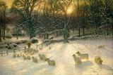 Joseph Farquharson - The Shortening Winter's Day Is Near a Close Digitálně vytištěná reprodukce
