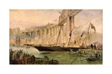 The Opening of the Saltash Bridge by Prince Albert, 2nd May 1859, C.1859 Giclee Print by Thomas Valentine Robins