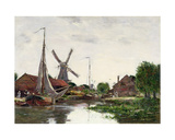 Dordrecht, Windmill on the Meuse, 1884 Giclee Print by Eugene Louis Boudin