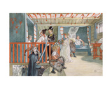 A Day of Celebration, from 'A Home' Series, C.1895 Giclee Print by Carl Larsson
