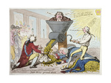 John Bull Ground Down, Published by Hannah Humphrey in 1795 Giclee Print by James Gillray