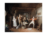 A Soldier Relating His Exploits in a Tavern, 1821 Giclee Print by John Cawse