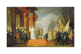 Charles V (1500-58) Leaving the Town of Dort Giclee Print by David The Elder Teniers