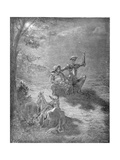 A Nocturnal Discourse, from 'Don Quixote De La Mancha' by Miguel Cervantes (1547-1616) Engraved… Giclee Print by Gustave Dore