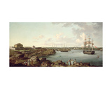Ships of the Royal Navy at Port Mahon, Minorca Giclee Print by Anton Schantz