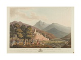 A View of the Town of Briar, Valencia, Engraved by Dubourg, 1814 Giclee Print by John Heaviside Clark