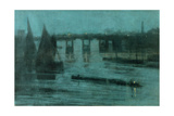 Nocturne, Old Battersea Bridge, 1885 Giclee Print by Walter Greaves