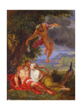Hypnos Sending Jupiter and Juno to Sleep Giclee Print by Balthasar Beschey