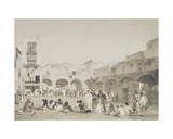 Slave Market, Cairo, Engraved by T.C. Bourne, 1840s Giclee Print by O.B. and Warren, Henry Carter