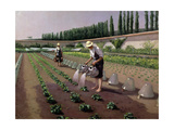 The Gardeners Reproduction procédé giclée par Gustave Caillebotte