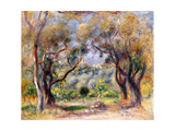 Landscape at Cagnes Giclee Print by Pierre-Auguste Renoir