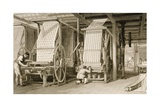 Calico Printing in a Cotton Mill, Engraved by James Carter (1798-1855) C.1830 Giclee Print by Thomas Allom