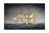 The 'Catalpa' with Whale Giclee Print by  American School