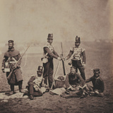 Officers and Men of the 3rd (East Kent) Regiment of Foot (The Buffs) from an Album of 52… Photographic Print by Roger Fenton