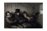 The Second Class Carriage, 1864 Giclee Print by Honore Daumier