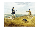Gun and Loader, Plate from 'Partridge Shooting', Engraved by Joseph Clayton Bentley (1809-51) 1794 Giclee Print by Henry Alken