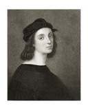 Raphael (Raffaello Sanzio) of Urbino (1483-1520) from 'Gallery of Portraits', Published in 1833 Reproduction procédé giclée par  Raphael