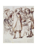 A Group of Churchmen and Politicians Including John Keble (1792-1866) and William Gladstone… Giclee Print by George Richmond