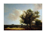 A View of Leiden with Figures Resting in the Foreground Giclee Print by Anthony Jansz van der Croos