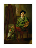 Portrait of the Artist at His Easel Giclee Print by Francis Hayman