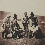 Captain Pechell and Men of the 77th (East Middlesex) Regiment of Foot in Winter Dress, from an… Photographic Print by Roger Fenton
