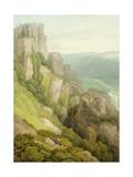 Morwell Rocks Giclee Print by John White Abbott