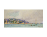 The Royal Yacht Squadron, Cowes Giclee Print by Henry Branston Freer