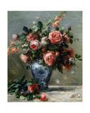 Vase of Roses, 1870-72 Giclee Print by Pierre-Auguste Renoir