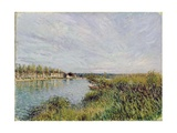 View of Saint-Mammes, C.1880 Giclee Print by Alfred Sisley