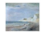 The Beach at Varangeville, C.1880 Giclee Print by Pierre-Auguste Renoir