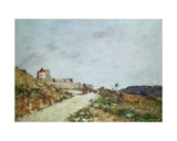 The Road to the Citadel at Villefranche, 1892 Giclee Print by Eugene Louis Boudin