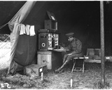 Doctor in an American Hospital Tent, C.1915 Photographic Print by Jacques Moreau