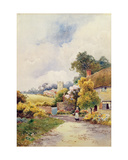 A Country Cottage and Church Giclee Print by F.H. Tyndale
