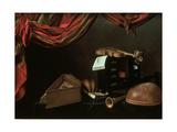 Still Life with Musical Instruments Giclée-tryk af Evaristo Baschenis