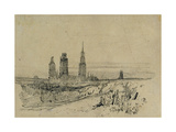 Rouen Cathedral Giclee Print by Richard Parkes Bonington