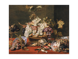 Still Life of Grapes in a Basket Reproduction procédé giclée par Frans Snyders Or Snijders