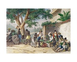 Chatimens Domestiques, Engraved by Deroi, 1827-35 Giclee Print by Johann Moritz Rugendas