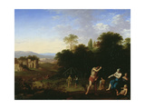 Classical Figures in a Landscape, C.1630-50 Giclee Print by Cornelis Van Poelenburgh Or Poelenburch