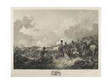 The Battle of Alexandria, with General Abercrombie Sitting Wounded, 21st March 1801, Engraved by… Giclee Print by Philippe De Loutherbourg