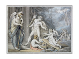 Apollo in Vulcan's Forge Giclee Print by Edward Francis Burney