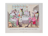A Family from Gascony Drinking Tea, 1815 Giclee Print