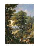 A Landscape in Latium with Shepherds Giclee Print by Andrea Locatelli