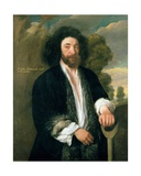 John Tradescant the Younger as a Gardener, 17th Century Giclee Print by Thomas de Critz